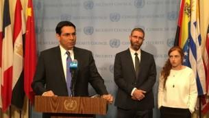 السفير الإسرائيلي لدى الأمم المتحدة داني دانون. (Courtesy)
