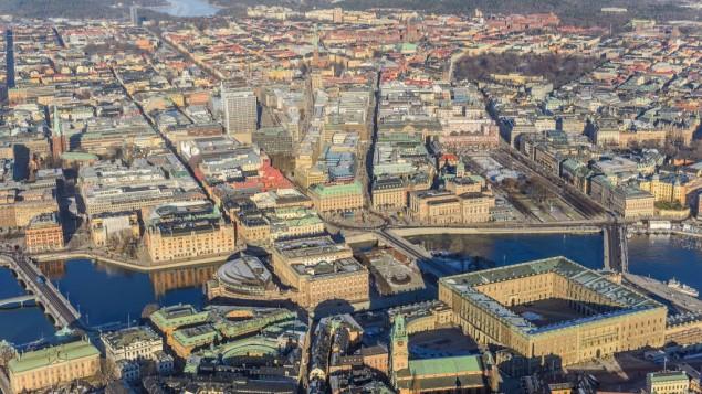صورة هوائية لمدينة ستوكهولم (CC BY-SA Arild, Flickr)