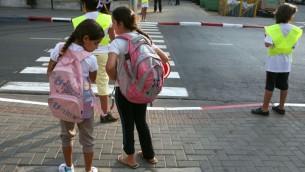 صورة توضيحية لطلاب مدرسة اسرائيليين (Liron Almog / Flash 90)