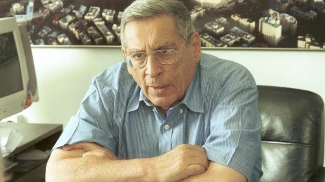 وزير السياحة رحبعام زئيفي، الذي اغتيل على يد مسلحين من منظمة الجبهة الشعبية لتحرير فلسطين في 2001. (Flash90)