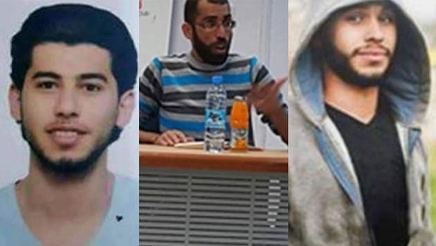 ثلاثة الشبان الذين اعتقلتهم قوات الامن الفلسطينية شمال رام الله في 9 ابريل 2016