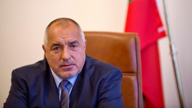 رئيس الوزراء البلغاري بويكو بوريسوف خلال مقابلة مع وكالة فرانس برس في صوفيا، 5 مايو 2016 (NIKOLAY DOYCHINOV / AFP)