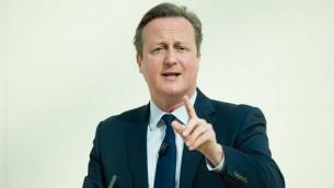 رئيس الوزراء البريطاني ديفيد كاميرون يقدم خطاب حول الاتحاد الاوروبي في المتحف البريطاني في لندن، 9 مايو 2016 (LEON NEAL / POOL / AFP)