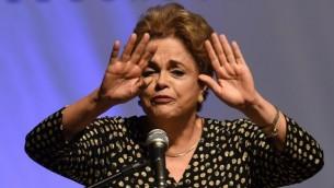رئيسة البرازيل ديلما روسيف في 10 مايو، 2016. (AFP PHOTO / EVARISTO SA)