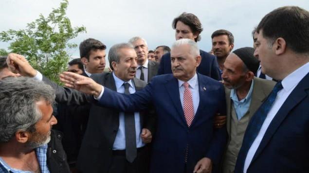 الرئيس المقبل للحكومة والحزب الحاكم في تركيا، وزير النقل بن علي يلديريم، 19 مايو 2015 (ILYAS AKENGIN / AFP)