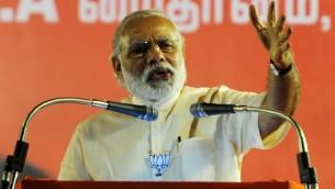 رئيس الوزراء الهندي نارندرا مودي، 6 مايو 2016 (ARUN SANKAR / AFP)