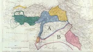 خارطة اتفاق سايكس بيكو في الشرق الاوسط (CC BY-SA Paolo Porsia, Flickr)