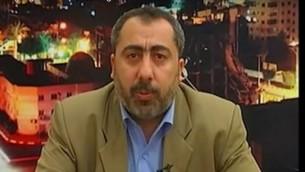 المسؤول في حركة حماس طاهر النونو (YouTube/Israel Defense Forces)