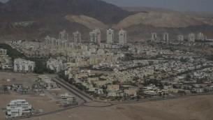 مدينة إيلات جنوب إسرائيل، 1 ابريل 2014 (Nati Shohat/Flash90)