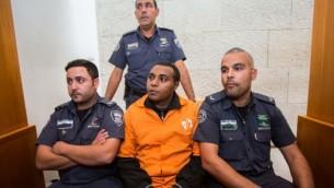 يوناتان هيلو يستأنف على الحكم عليه بالجسن 20 عاما بتهمة القتل العمد في المحكمة العليا في القدس، 1 ديسمبر، 2014. (Yonatan Sindel/Flash90)