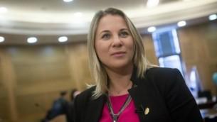 """كسينيا سفيتلوفا من حزب """"المعسكر الصهيوني"""" (Miriam Alster/FLASH90)"""
