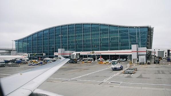 صورة توضيحية لترمينال 5 في مطار هيثرو في لندن (photo credit: Oxyman/Wikimedia Commons/File)