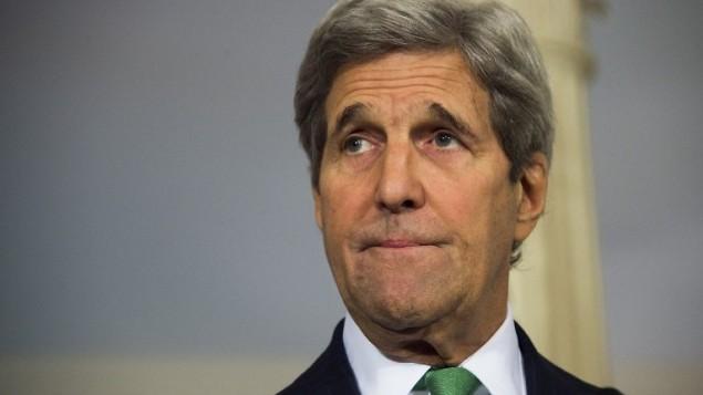وزير الخارجية الامريكي جون كيري في وزارة الخارجية في واشنطن، 25 مارس 2016 (Jim Watson/AFP)
