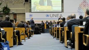 مؤتمر الجمعية العامة لبرنامج البيئة التابع للامم المتحدة في نيروبي، 26 مايو 2016 (AFP PHOTO / SIMON MAINA)