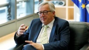 رئيس المفوضية الاوروبية جان كلود يونكر في مقر الاتحاد الاوروبي في بروكسل، 24 يونيو 2016 (FRANCOIS LENOIR / POOL / AFP)
