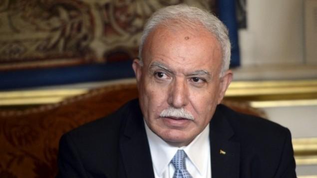 وزير الخارجية الفلسطيني رياض المالكي (AFP/Miguel Medina)