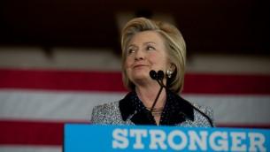 المرشحة الديمقراطية للرئاسة الامريكية هيلاري كلينتون تخاطب داعميها في بيتسبرغ، 14 يونيو 2016 (JEFF SWENSEN / GETTY IMAGES NORTH AMERICA / AFP)