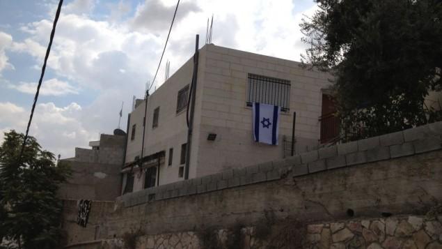 منزل يهودي في حي سلوان، 2 اكتوبر 2014 (Elhanan Miller/Times of Israel)