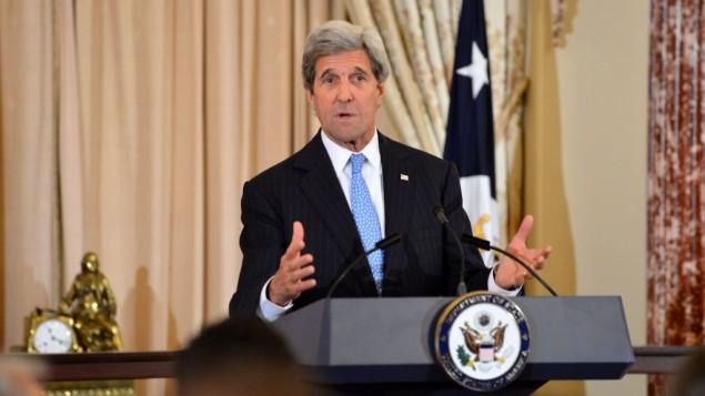 وزير الخارجية الامريكي جون كيري في وزارة الخارجية في واشنطن، 22 يونيو 2016 (State Department)