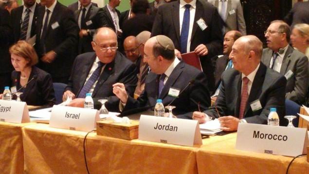 مدير عام وزارة الخارجية الاسرائيلية دوري غولد خلال مؤتمر في عمان، 20 اكتوبر 2015 (Foreign Ministry)