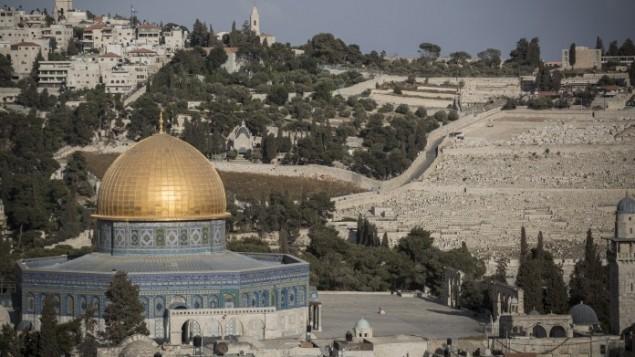 قبة الصخرة في الحرم القدسي، 29 سبتمبر 2015 (Hadas Parush/Flash90)