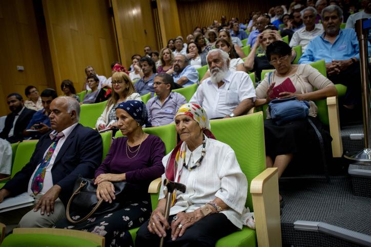 مؤتمر حول قضية أطفال اليمن في الكنيست، 21 يونيو، 2016. (Miriam Alster/FLASH90)