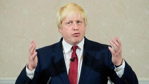 رئيس بلدية لندن السابق بوريس جونسون، الذي خاض حملة لخروج بريطانيا من الاتحاد الاوروبي، خلال مؤتمر صحفي في لندن، 30 يونيو 2016 (LEON NEAL / AFP)