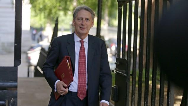 وزير المالية البريطاني الجديد فيليب هاموند في لندن، 19 يوليو 2016 (DANIEL LEAL-OLIVAS / AFP)
