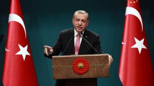 الرئيس التركي رجب طيب اردوغان خلال مؤتمر صحفي في انقرة، 20 يوليو 2016 (ADEM ALTAN / AFP)