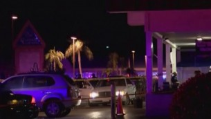 ساحة هجوم اطلاق النار في 'كلوب بلو' بفورت مايرز، فلوريدا، 25 يوليو 2016 (Screen capture: YouTube)