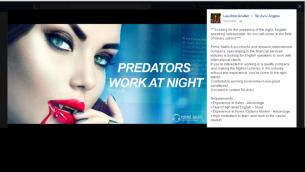 إعلان على فيسبوك لشركة خيارات ثنائية مقرها في إسرائيل تم نشرها في 19 أبريل، 2016. (لقطة شاشة)