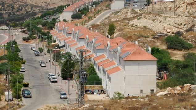 مستوطنة افني حيفيتش في الضفة الغربية، شرقي طول كرم، 31 يوليو 2009 (Gili Yaari/Flash90)