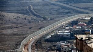 الحدود الإسرائيلية-السورية في هضبة الجولان. (Moshe Shai/Flash90)