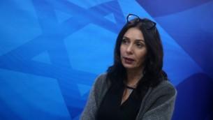 وزيرة الثقافة والرياضة ميري ريغيف في القدس، 27 ديسمبر، 2015. (Marc Israel Sellem/POOL)