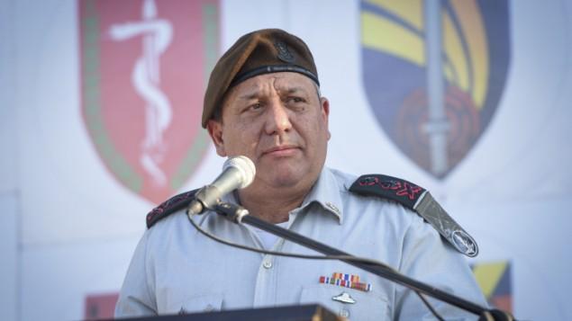 رئيس هيئة الأركان العامة للجيش الإسرائيلي غادي آيزنكوت، 13 يوليو، 2016. (وحدة المتحدث بإسم الجيش الإسرائيلي)
