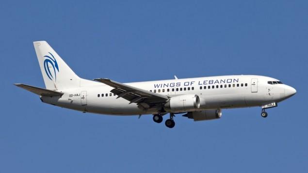 """طائرة تحمل شعار شركة طيران """"أجنحة لبنان"""".  (CC BY-SA Maarten Visser, Flickr)"""