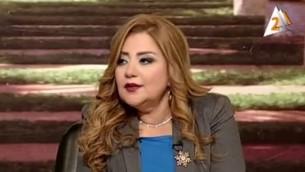 خديجة خطاب، مذيعة في التلفزيون المصري. (لقطة شاشة من YouTube)