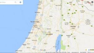 الضفة الغربية وغزة تظهران على خرائط جوجل. (لقطة شاشة:  Google Maps)