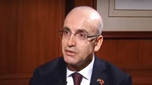 نائب رئيس الوزراء التركي محمد شيمشيك. (لقطة شاشة: YouTube)