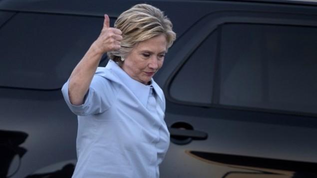 المرشحة الديمقراطية للرئاسة هيلاري كلينتون، 5 سبتمبر، 2016. (AFP/Brendan Smialowski)