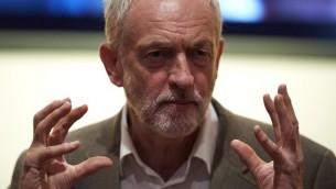 قائد حزب العمال البريطاني المعارض جيرمي كوربن في لندن، 20 سبتمبر 2016 (NIKLAS HALLE'N / AFP)