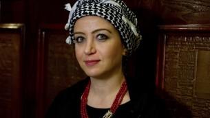الصحافية السورية زينة ارحيم، 22 اكتوبر 2015 (ANDREW CABALLERO-REYNOLDS / AFP)