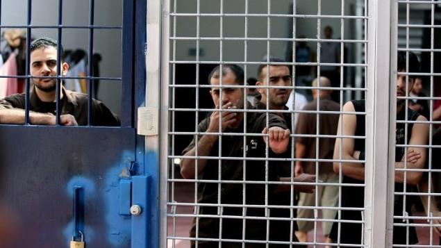 صورة توضيحية للأسرى الأمنيين في السجون الإسرائيلية ( Moshe Shai/Flash90)
