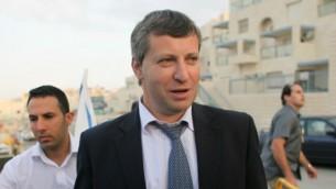 ستاس ميسجنيكوف، عندما كان وزيرا للسياحة، في القدس، 21 أكتوبر، 2012. (oav Ari Dudkevitch / FLASH90)