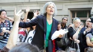 مرشحة حزب الخضر للانتخابات الرئاسية الامريكية جيل ستاين خلال مظاهرة في نيويورك عام 2011 (CC BY SA Paul Stein, Wikipedia)