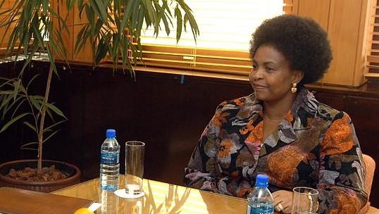 وزيرة العلاقات الدولية والتعاون الجنوب أفريقي مايتي نكونا ماشبان. . (US Department of State/Wikimedia Commons)