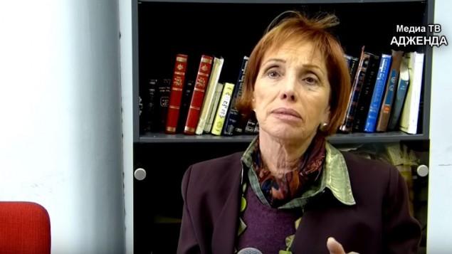 تسفيا فالدن، ابنة رئيس الدولة الأسبق شمعون بيريس (YouTube/Media TV Adženda)