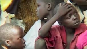 اطفال في دارفور (Youtube screenshot)