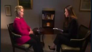 هيلاري كلينتون خلال مقابلة مع القناة الثانية، 8 سبتمبر 2016 (Channel 2 screenshot)