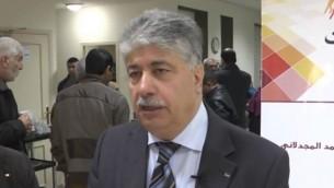المسؤول في منظمة التحرير الفلسطينية أحمد مجدلاني (لقطة شاشة من YouTube)